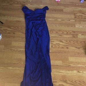 Off the shoulder prom dress
